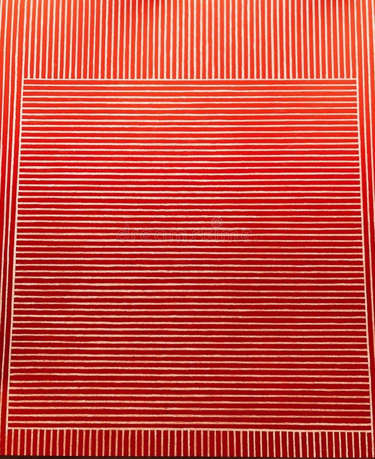 Un modèle carré sur les bandes rouges photographie stock libre de droits