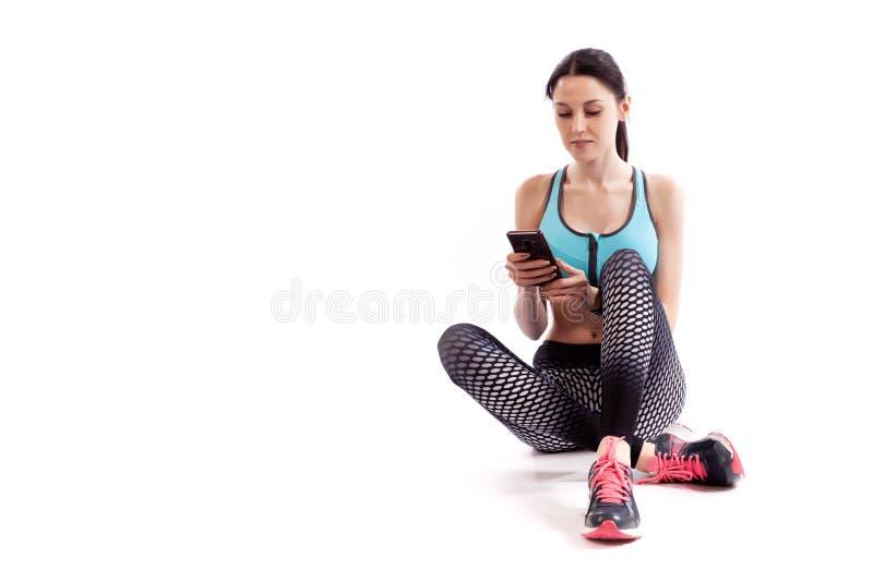 Un modèle de femme de sport photographie stock