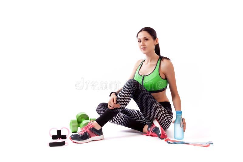 Un modèle de femme de sport photos stock