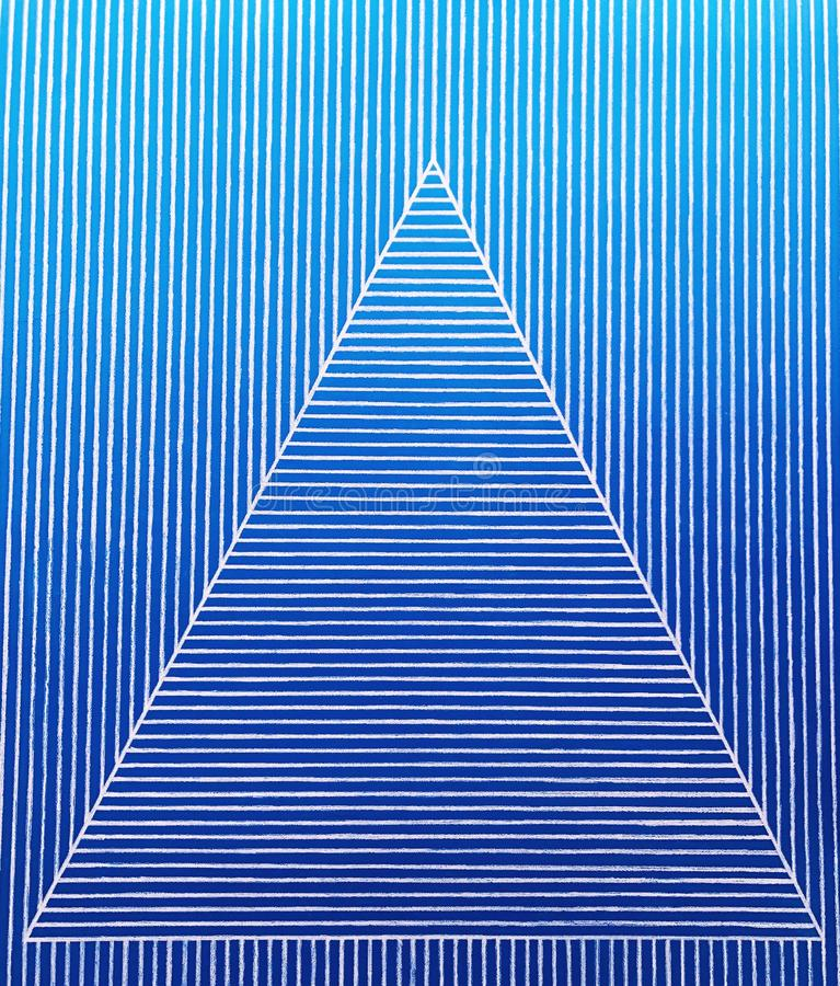 Un modèle de triangle sur les bandes bleues photos stock