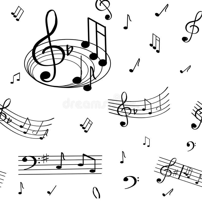 Un modèle merveilleux de note musicale photographie stock