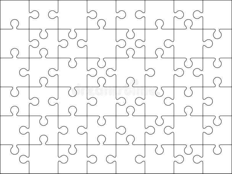 Un modello in bianco di 48 puzzle illustrazione di stock