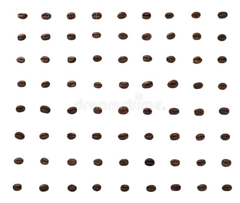 Un modello dei chicchi di caffè arrostiti immagine stock