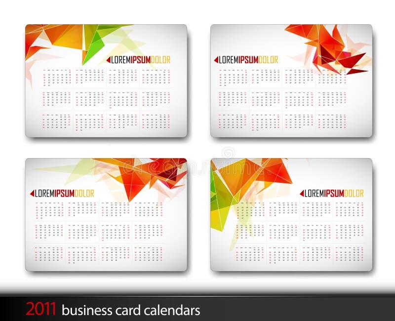 Un modello del 2011 calendario illustrazione di stock