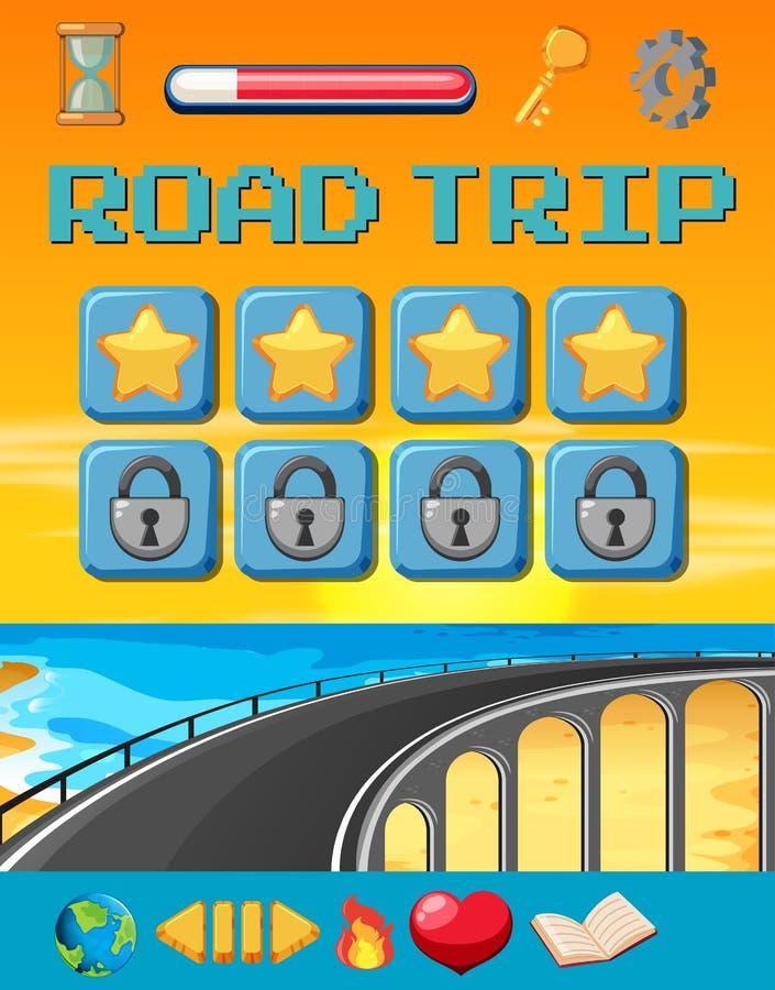 Un modello del gioco di viaggio stradale royalty illustrazione gratis