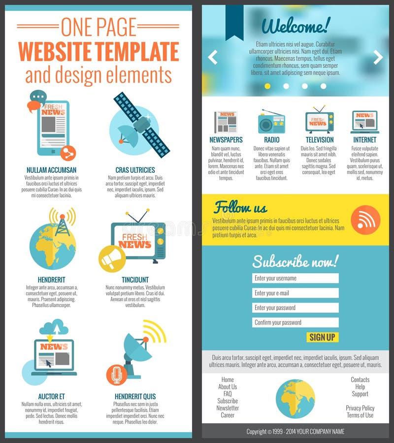 Un modello del sito Web della pagina illustrazione di stock