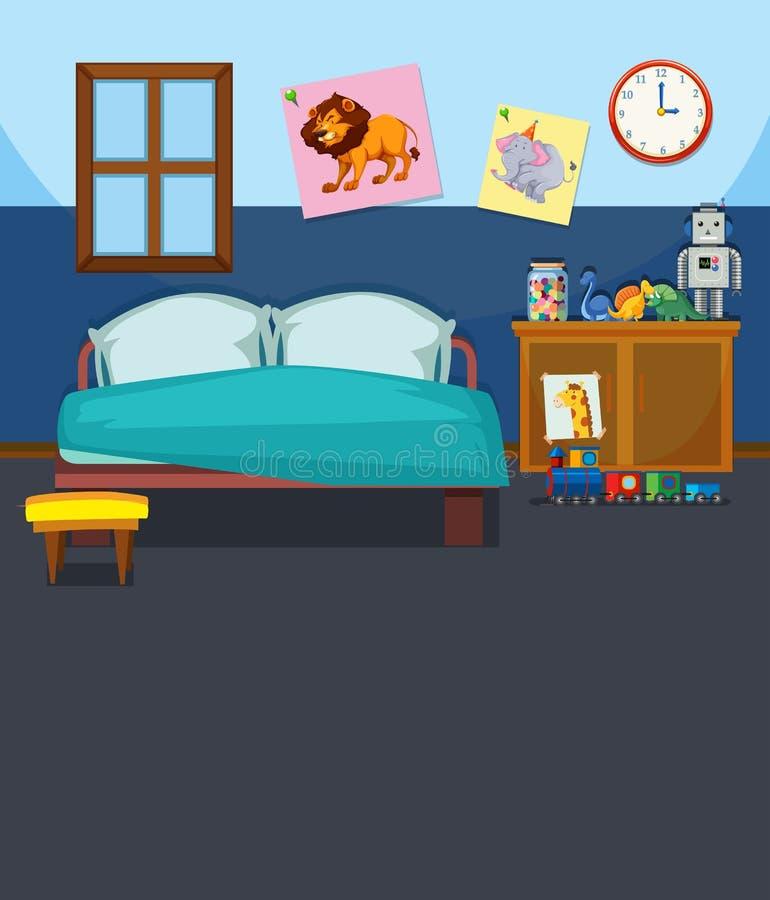 Un modello dell'interno della camera da letto illustrazione di stock