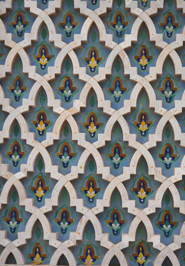Un modello delle mattonelle del morrocon da Casablanca fotografia stock libera da diritti