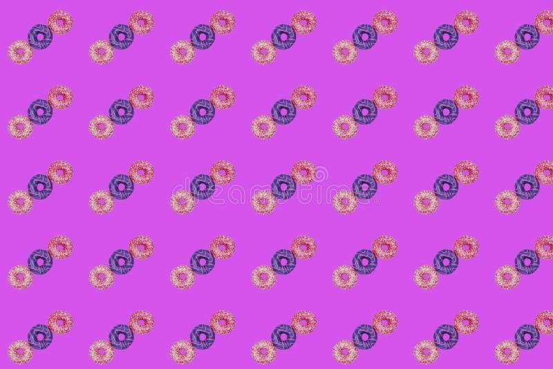 Un modello di tre guarnizioni di gomma piuma dolci illustrazione vettoriale