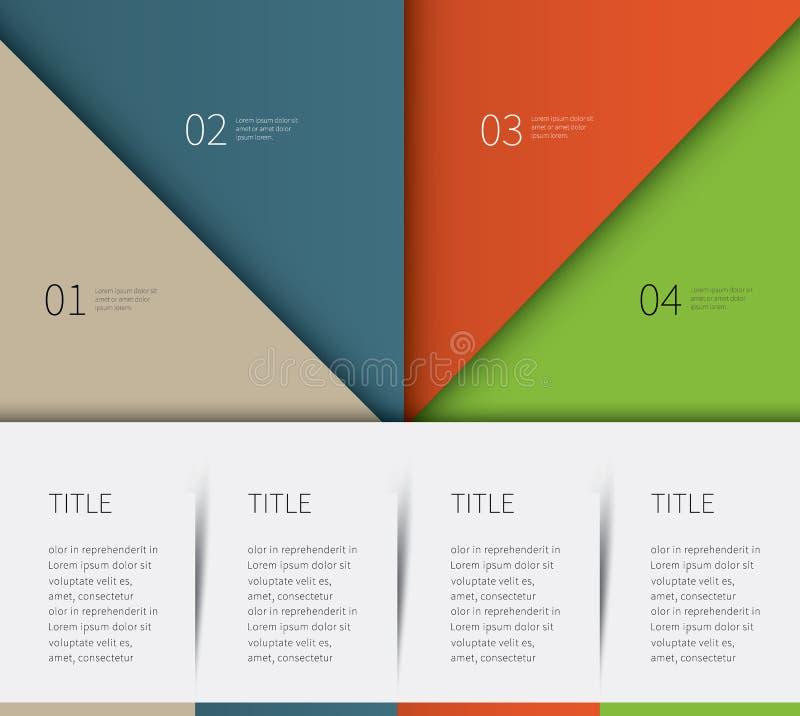 un modello infographic di 4 opzioni immagini stock