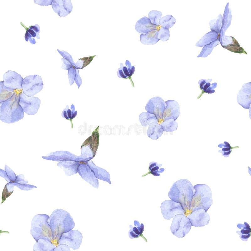 Un modelo de flores azules fotografía de archivo