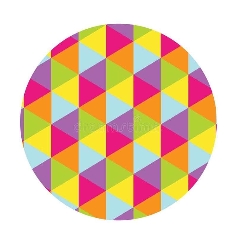 Un modelo de multicolor ilustración del vector