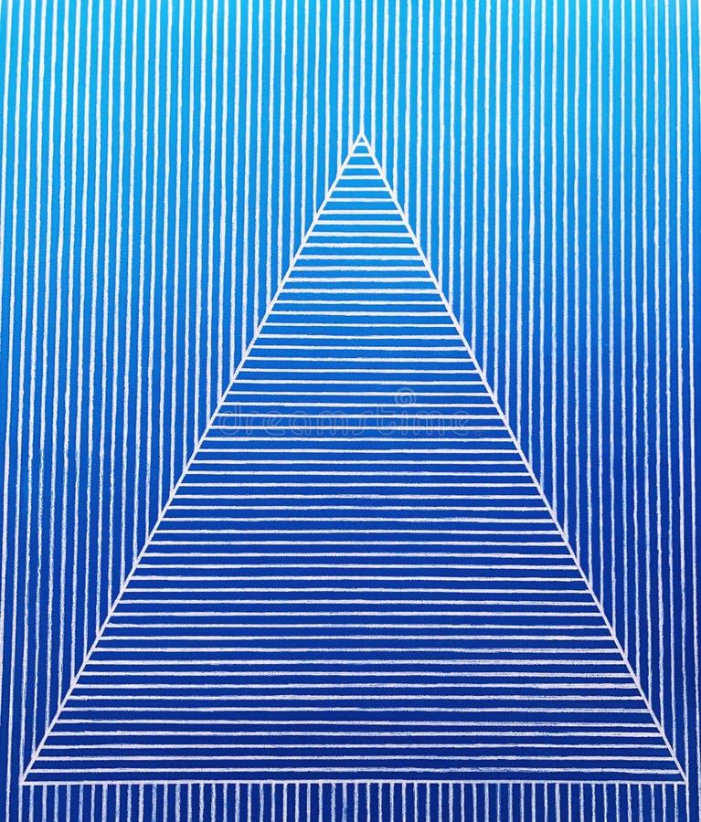 Un modelo del triángulo en tiras azules fotos de archivo