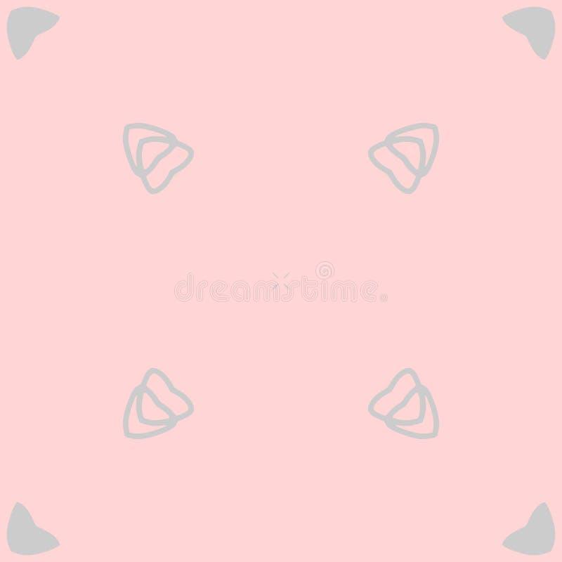 Un modelo inconsútil de corazones en rosado y gris, vector imágenes de archivo libres de regalías