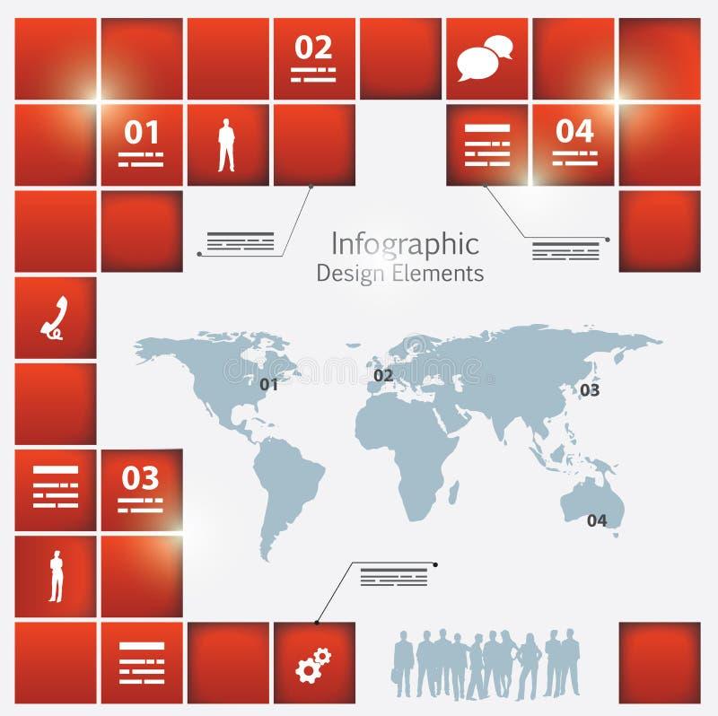 Un modelo infographic del mundo ilustración del vector