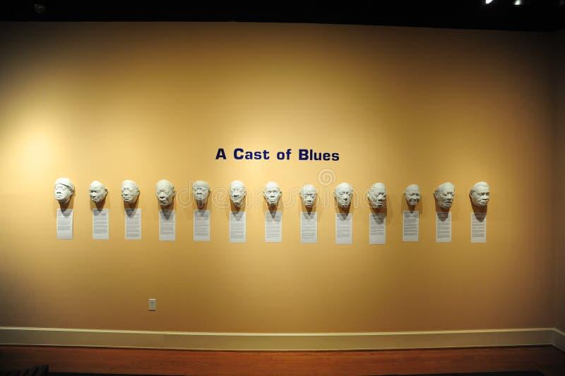 Un molde del objeto expuesto en el museo cultural del delta, Helena Arkansas de los azules imagen de archivo