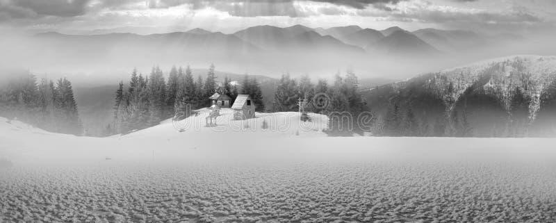 Un monastère isolé image stock