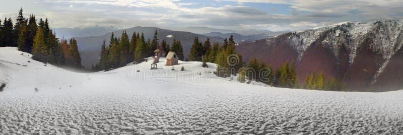 Un monastère isolé images stock