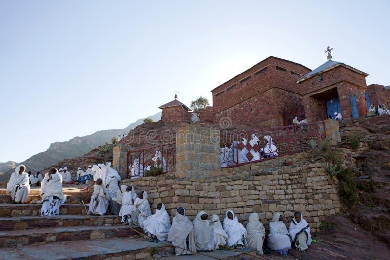 Un monastero etiopico immagine stock libera da diritti