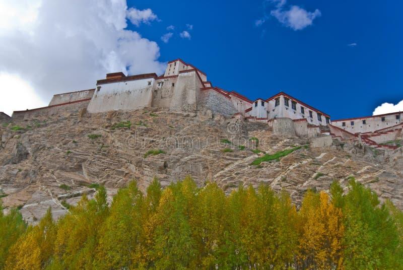 Un monastero tibetano immagine stock libera da diritti