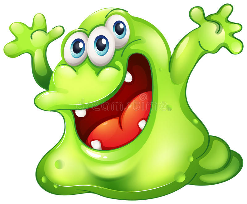 Un monstre vert de boue
