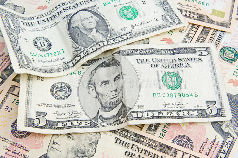Un montón de dinero. fotografía de archivo libre de regalías
