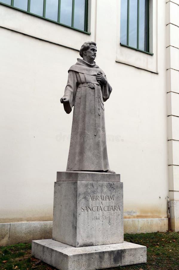 Un monument à Abraham Santa Clara, un prédicateur célèbre, satirique et auteur, est situé dans de Vienne images libres de droits