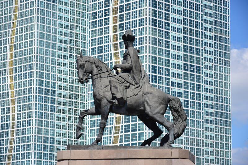 Un monument à Kenesary Khan à Astana photos libres de droits