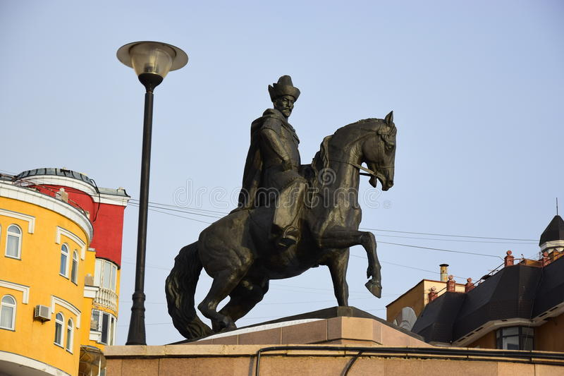 Un monument à Kenesary Khan à Astana image stock