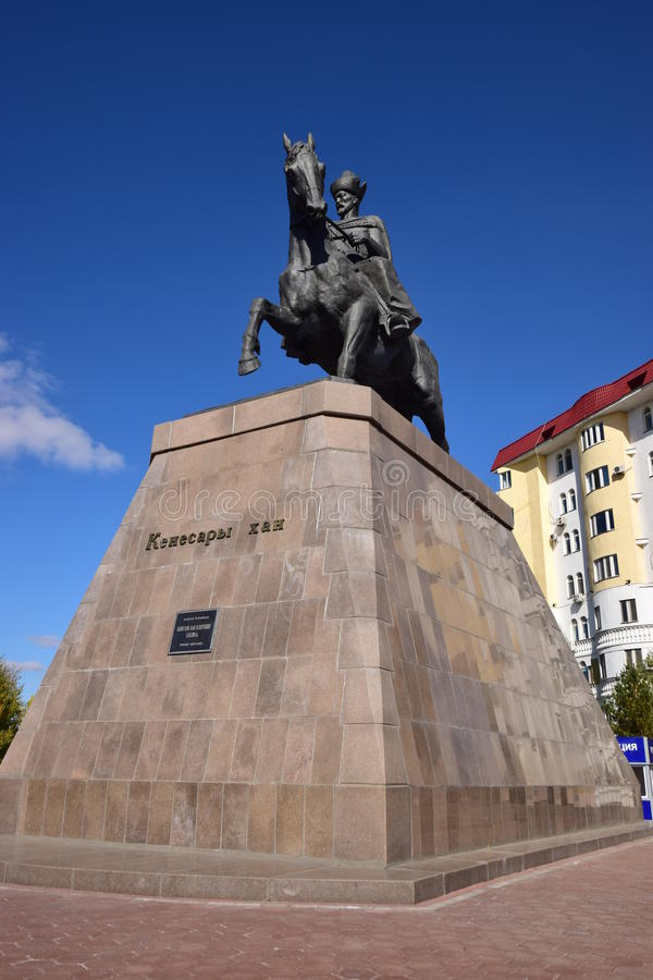 Un monument à Kenesary Khan à Astana photographie stock