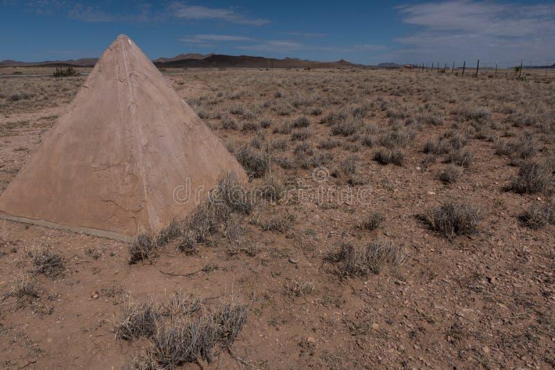 Un monument mormon de bataillon au Nouveau Mexique photographie stock libre de droits