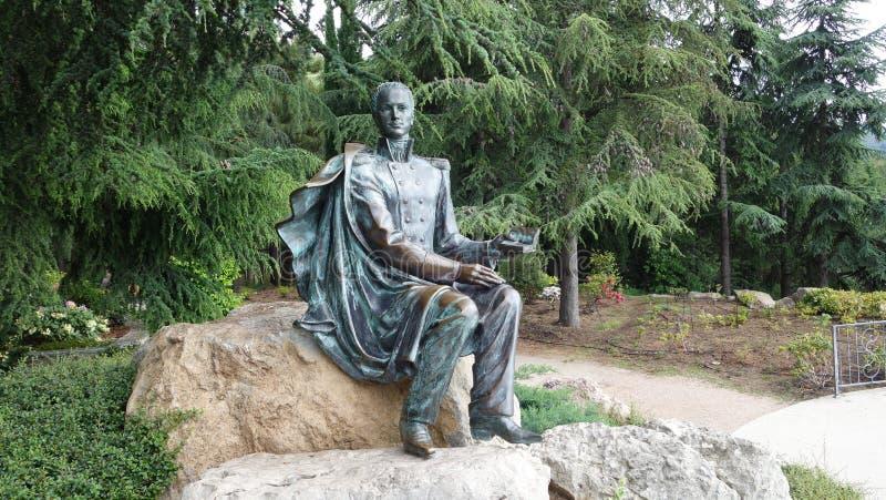 Un monumento al poeta Lermontov fotografía de archivo libre de regalías