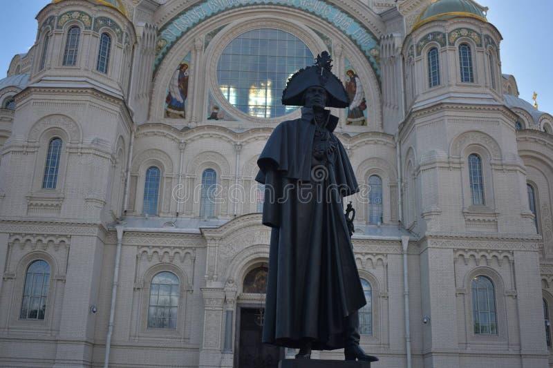 Un monumento a comandante navale russo Admiral immagine stock libera da diritti