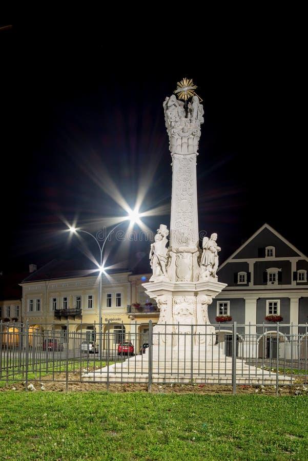 Un monumento venerable de la trinidad santa a partir de 1749, Pozega, Croacia imagen de archivo libre de regalías