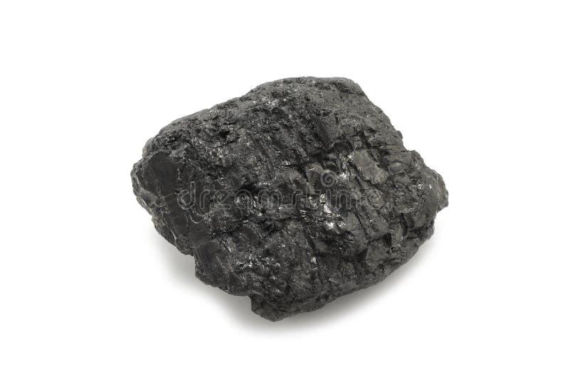 Un morceau de charbon noir images stock