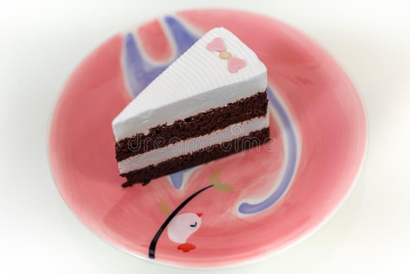 Un morceau de gâteau de chocolat photos libres de droits