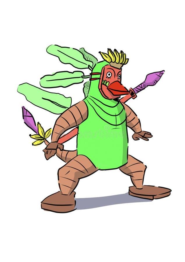 Un mostro della banana illustrazione di stock