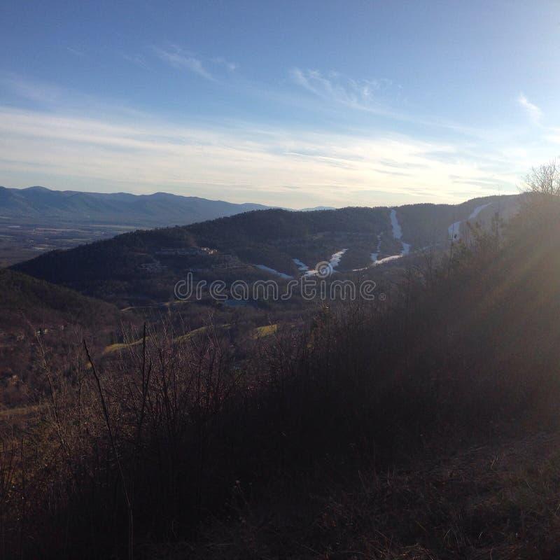 Un Mountain View magnifique images libres de droits