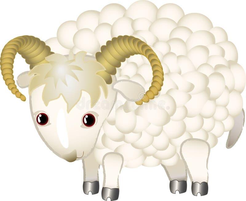 Un mouton de dessin anim illustration de vecteur - Mouton dessin anime ...