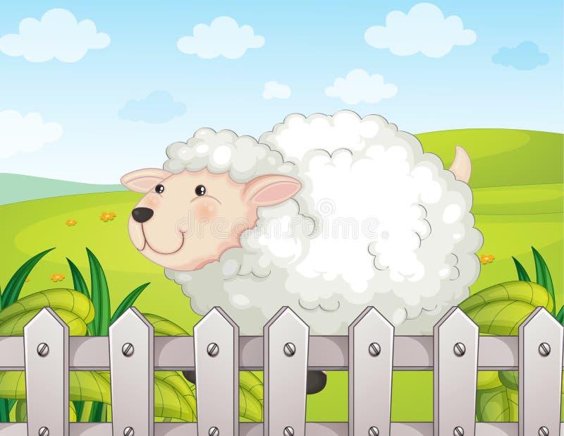 Un mouton de sourire illustration stock