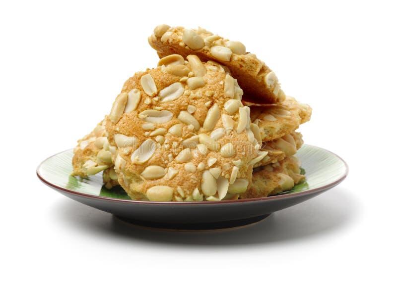 Un mucchio dei biscotti dell'arachide fotografia stock