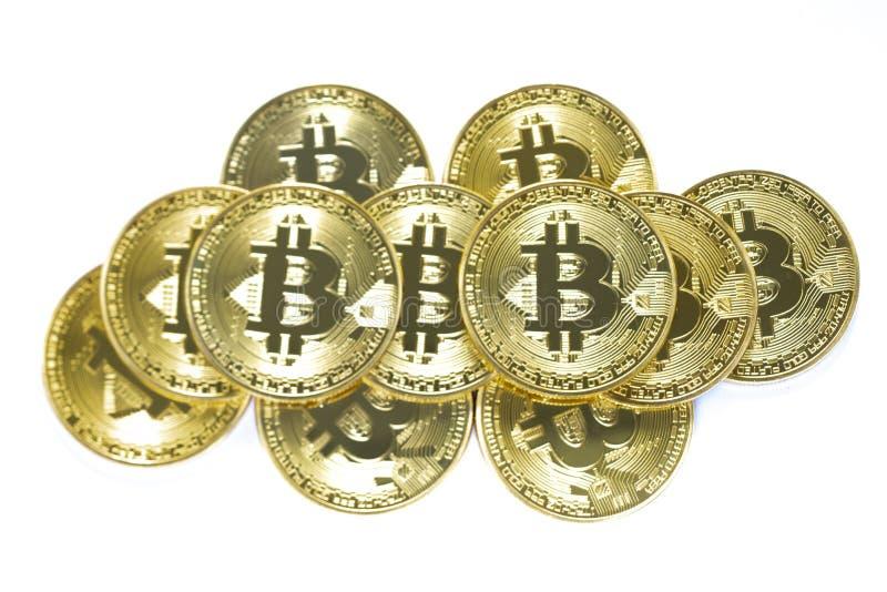 Un mucchio dei bitcoins immagine stock libera da diritti