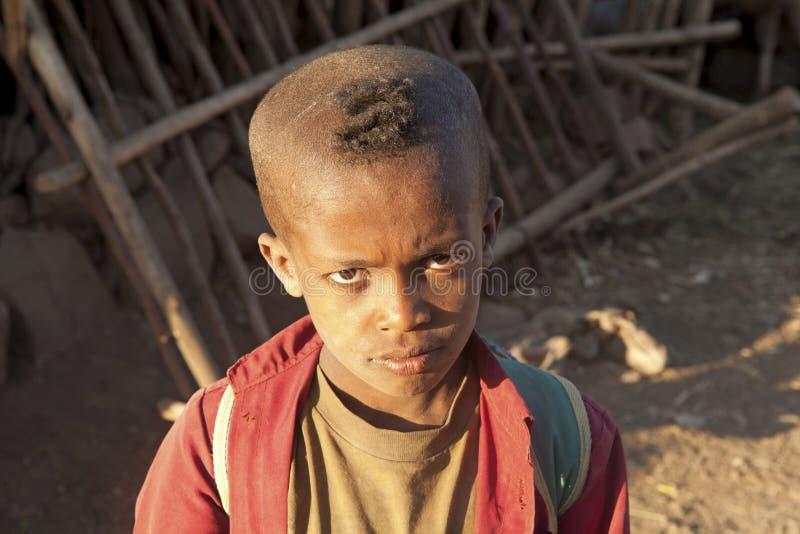 Un muchacho etíope imagen de archivo