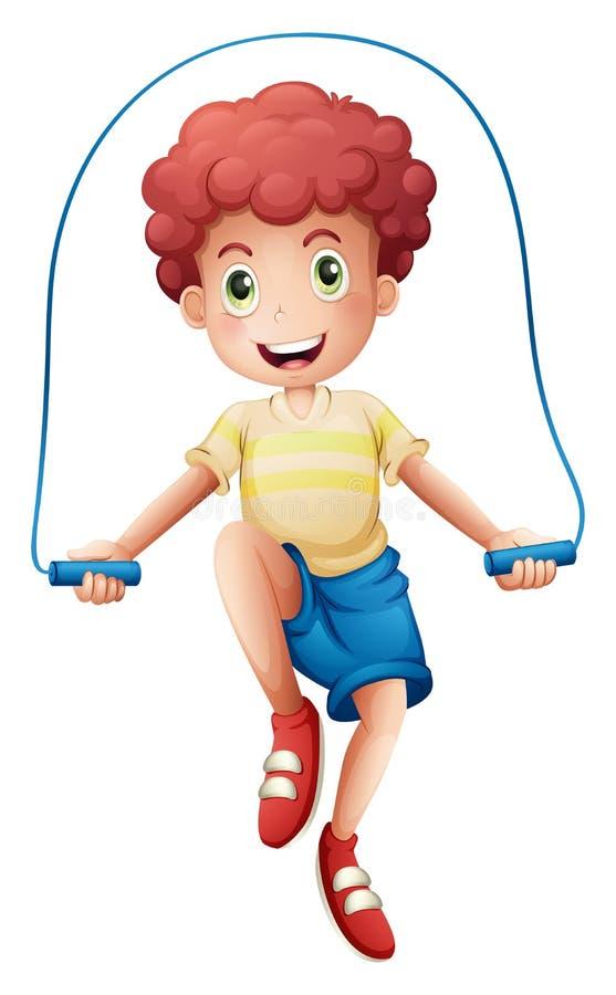 Un muchacho que juega con la cuerda libre illustration