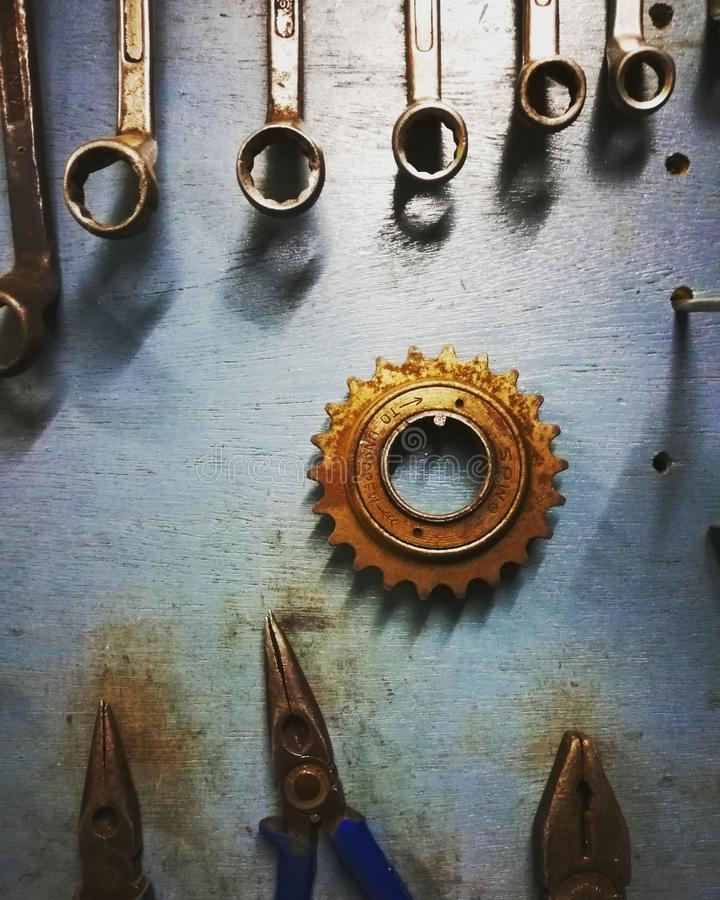 Un mundo de los mecánicos imagenes de archivo