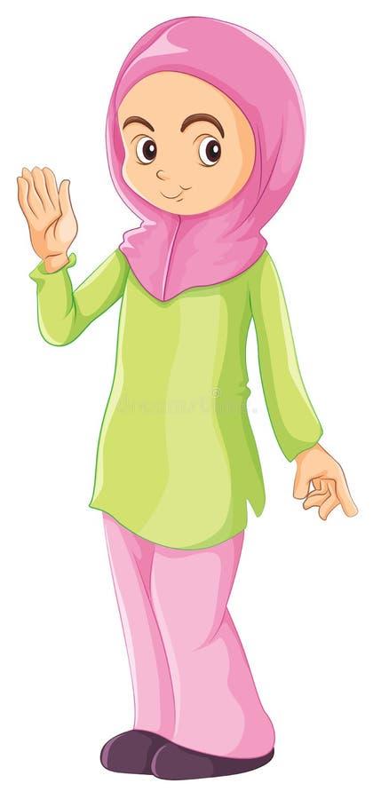 Un musulman féminin illustration stock