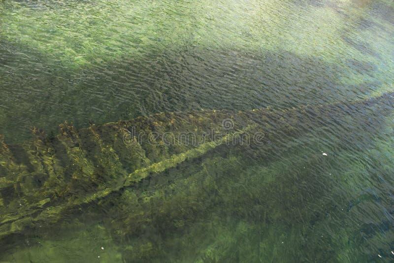 Un naufrage dans les eaux de la baie géorgienne images stock