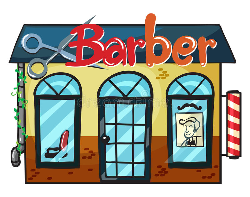 Un negozio di barbiere illustrazione vettoriale