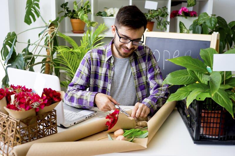 Un negozio di fiore fotografia stock libera da diritti