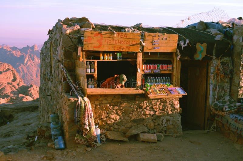 Un negozio sul modo fino al monte Sinai fotografia stock